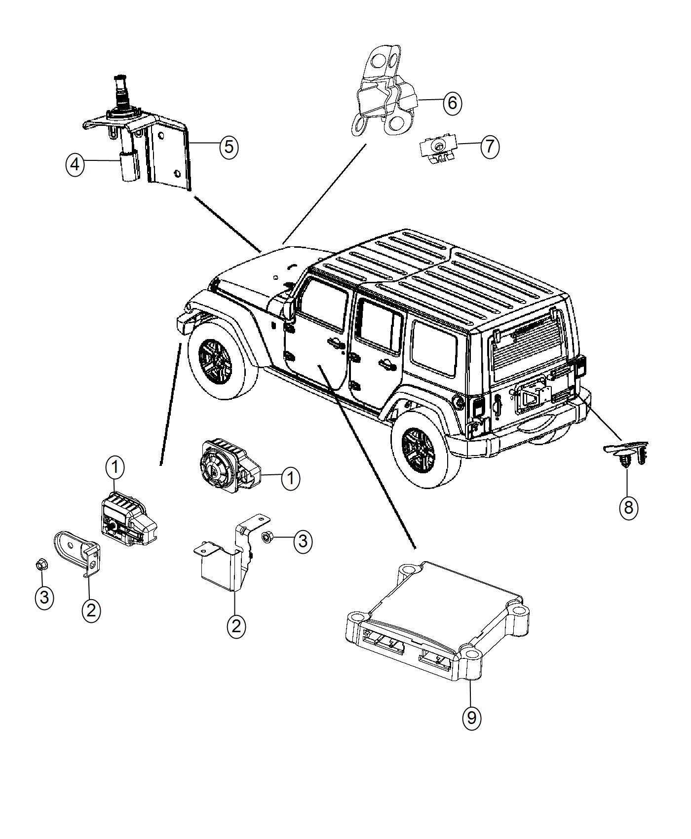 Jeep Wrangler Siren Alarm