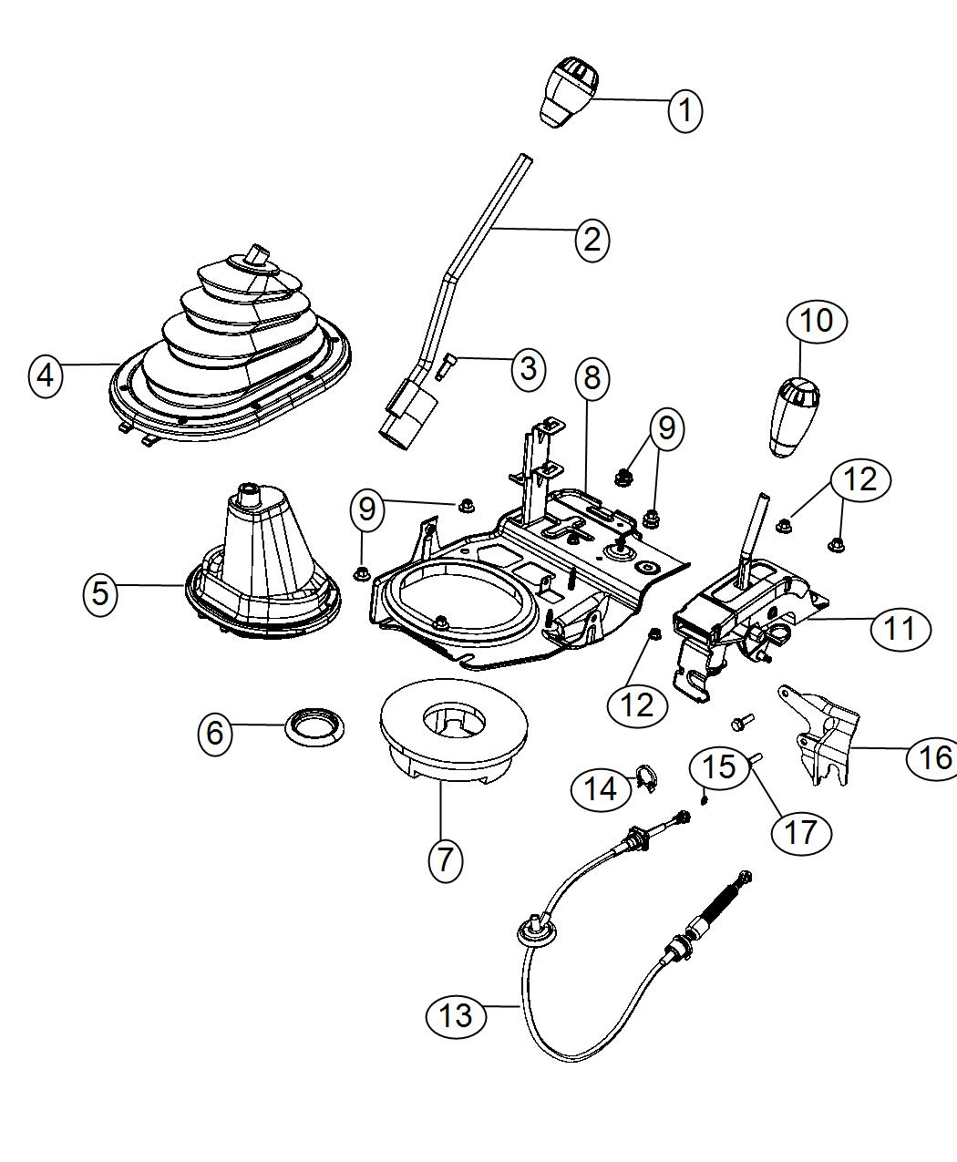 Jeep Boot Boot Assembly Gear Shift Control Lever