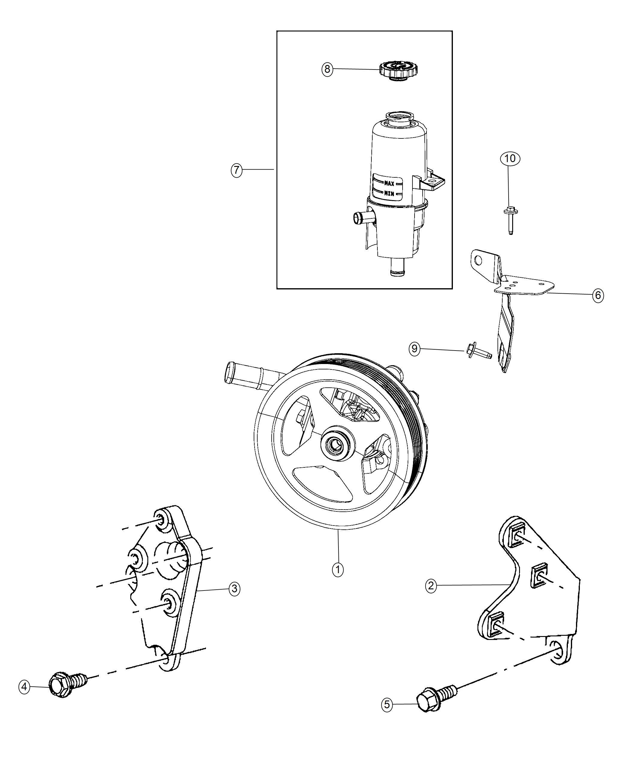 Ram Reservoir Power Steering Fluid