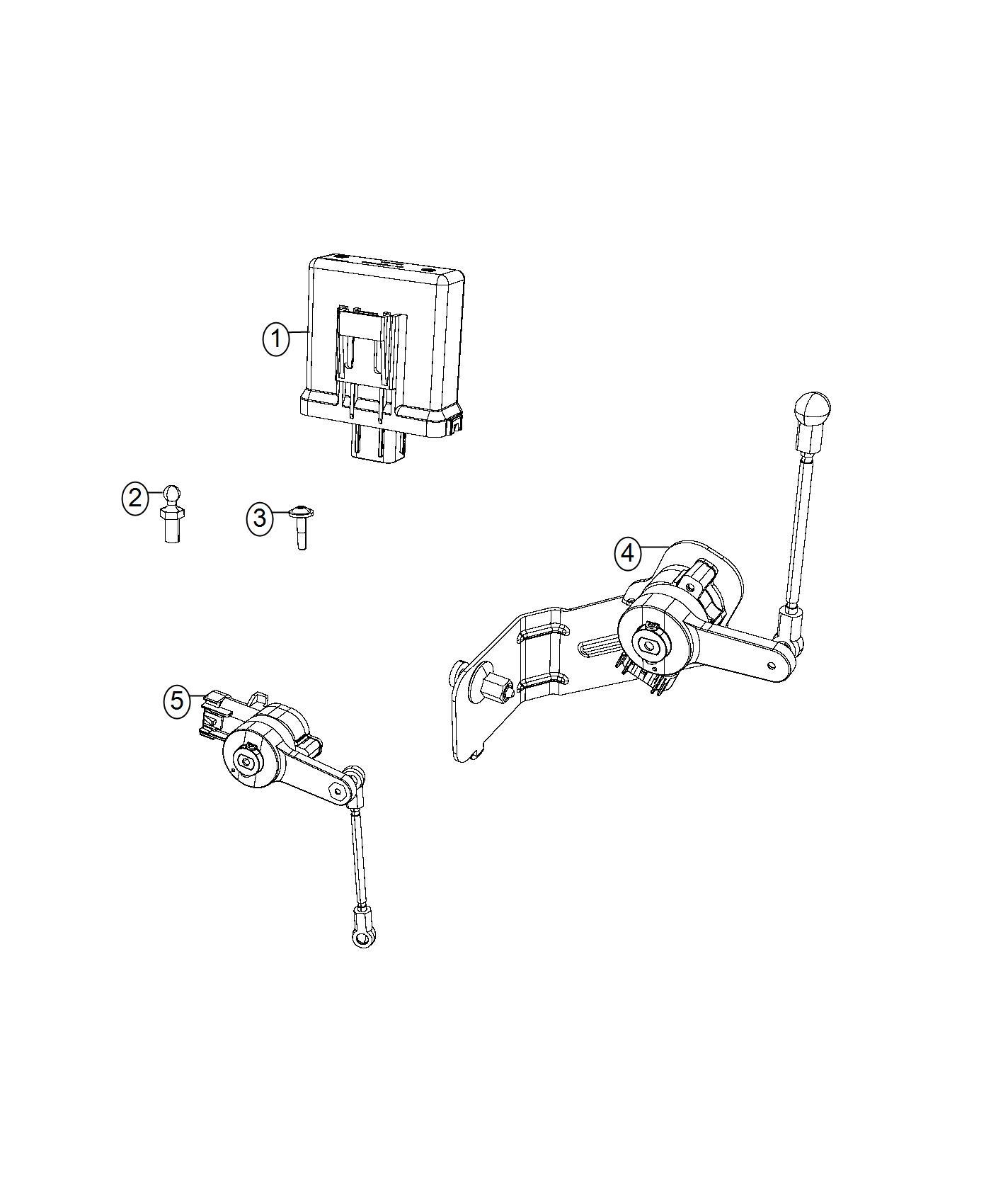 Chrysler 300 Module Headlamp Leveling Adaptive Bi Xenon