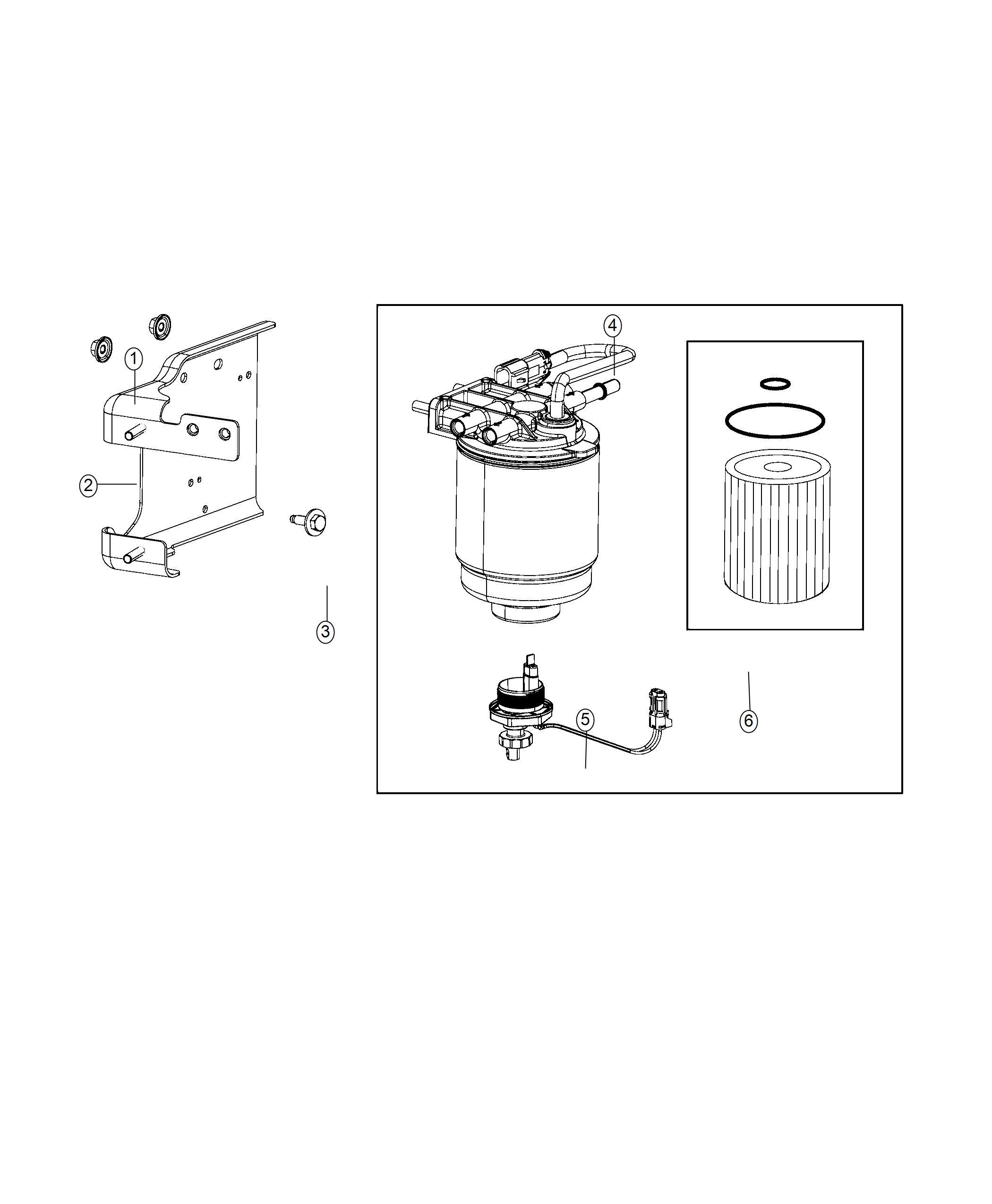 Ram Filter Housing Fuel Fuel Water Separator