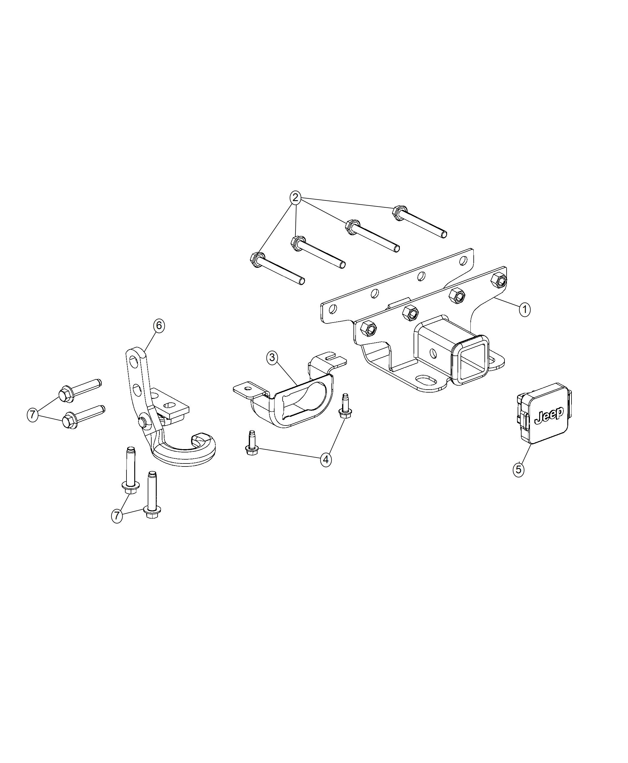 Jeep Wrangler Receiver Kit Trailer Tow Injection