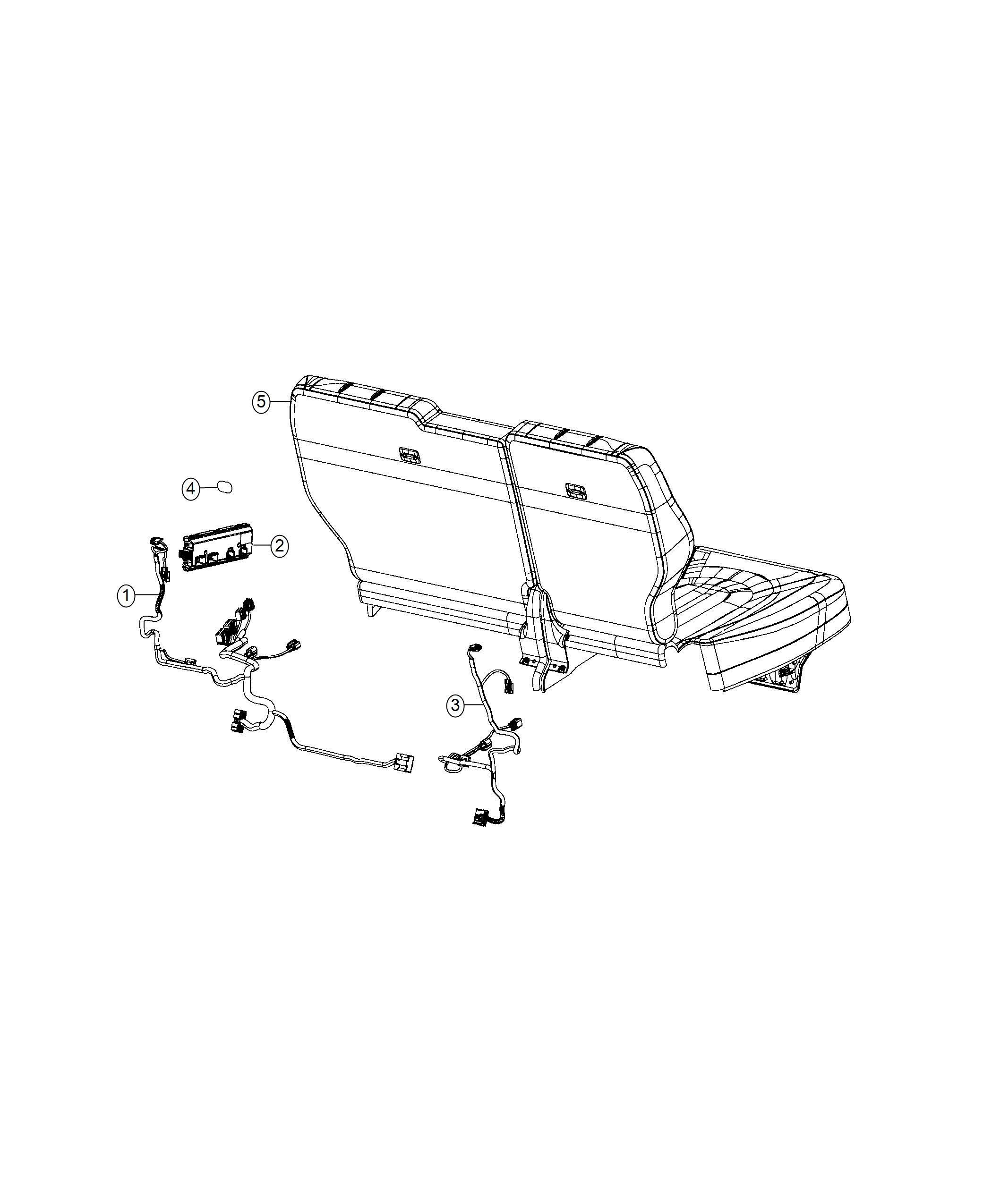 Chrysler Pacifica Wiring Seat Right