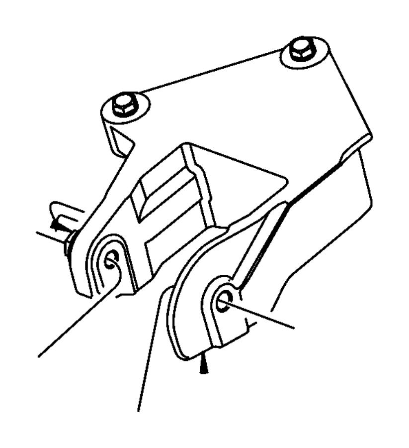 Chrysler Sebring Bracket Engine Mount Rear