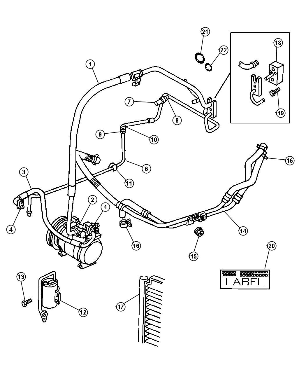 Chrysler Town Amp Country O Ring A C Line High Pressure