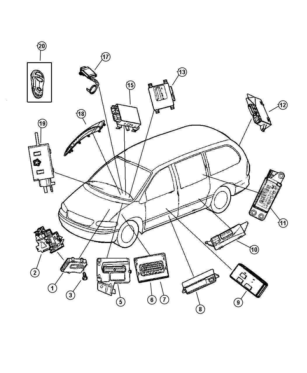 Chrysler Town Amp Country Module Power Distribution