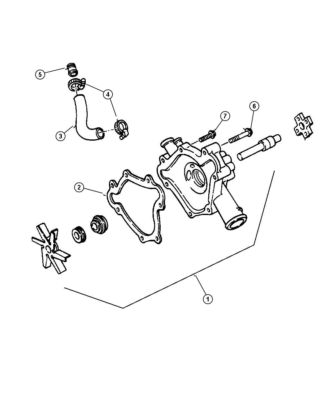 Chrysler Lhs Pump Water Does Not Include Gasket Related