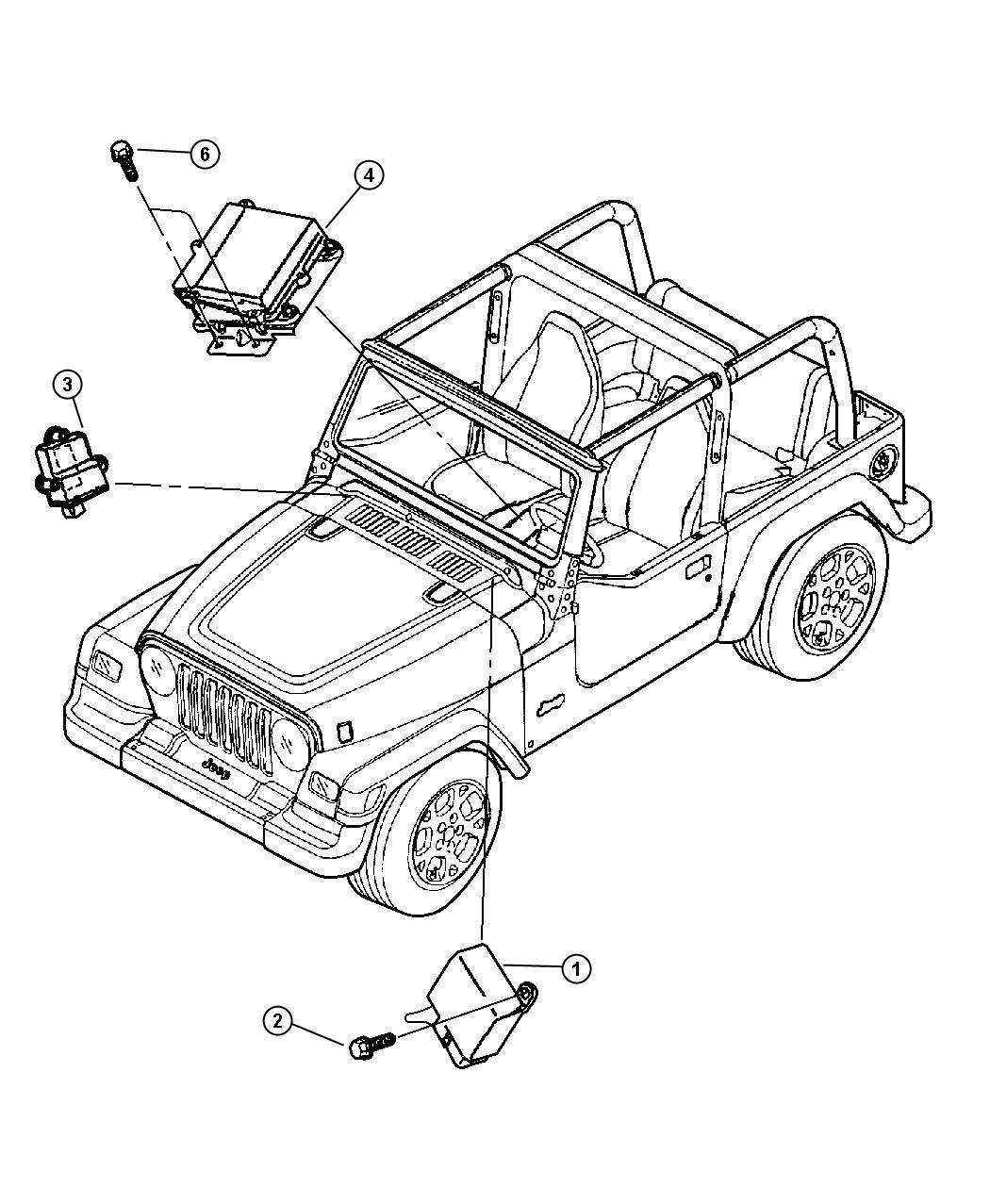 Jeep Wrangler Module Immobilizer Located On The