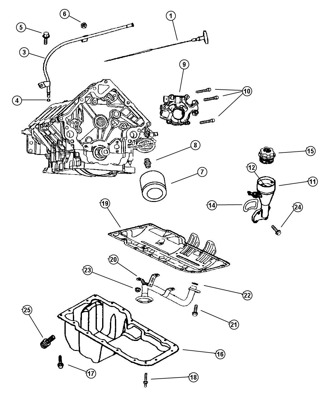 Jeep Grand Cherokee Housing Oil Fill Engine Oiling