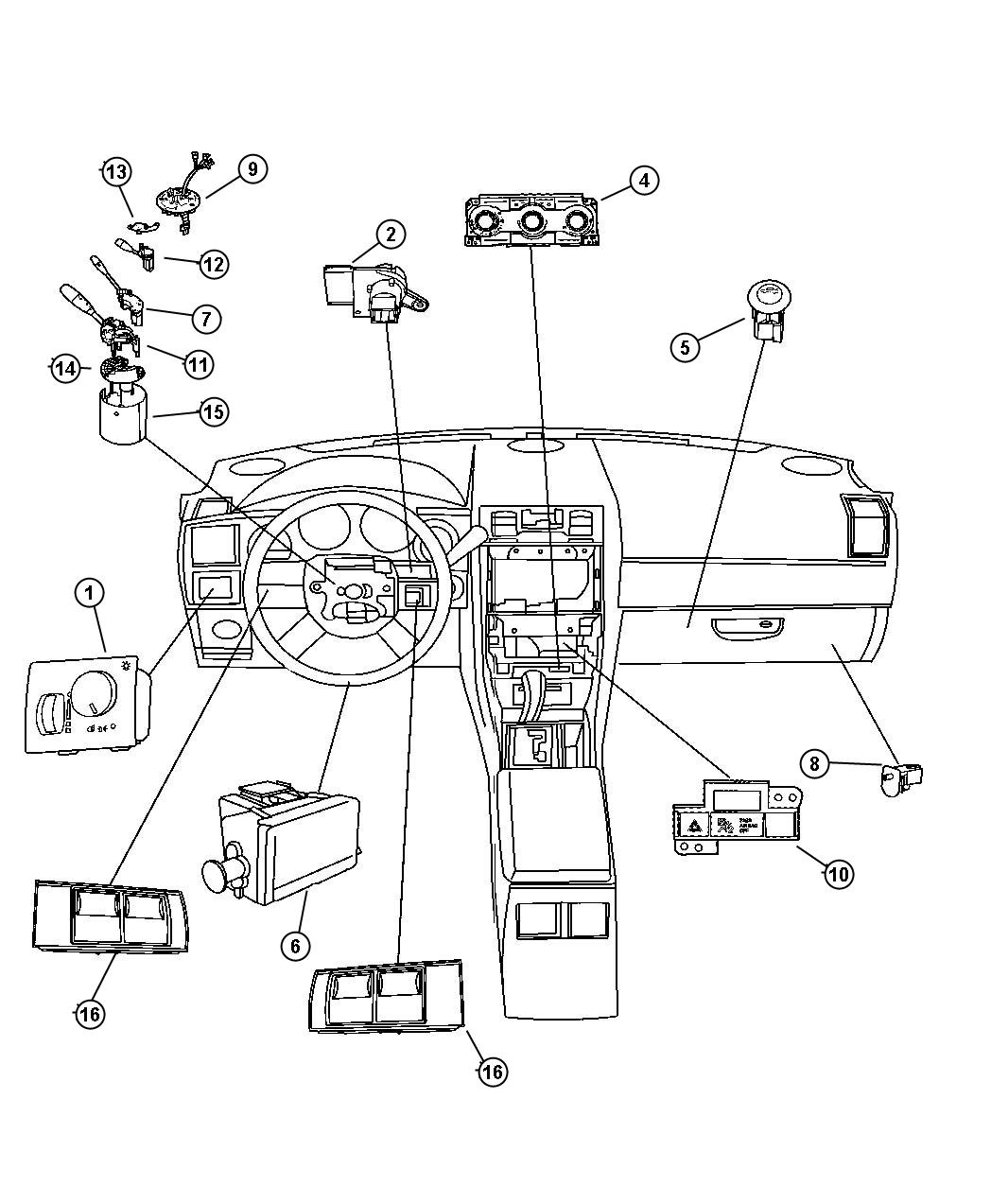 Dodge Magnum Control Used For A C And Heater Atc Air Zone