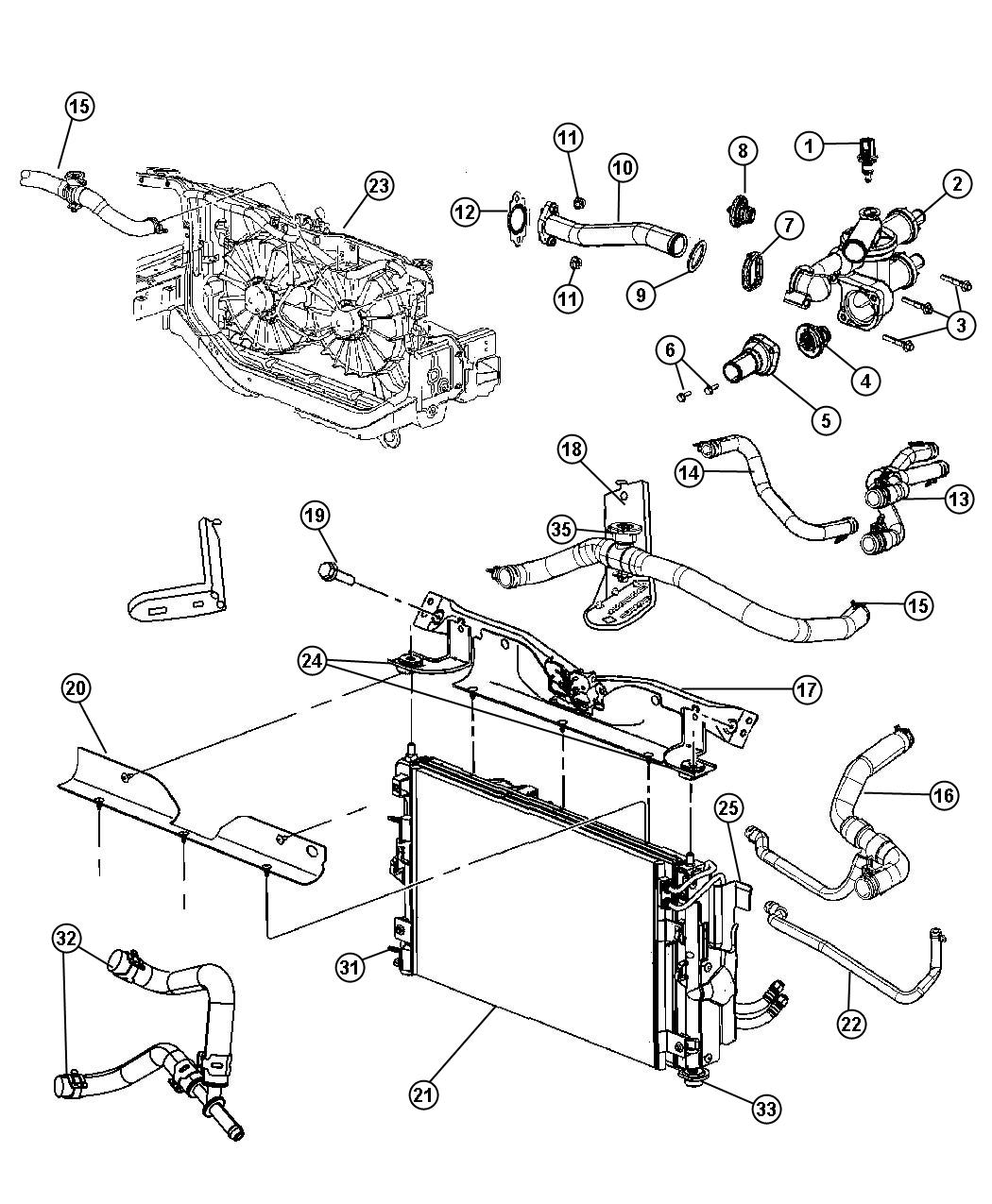 Jeep Patriot Condenser Air Conditioning Plumbing Transmission Daw