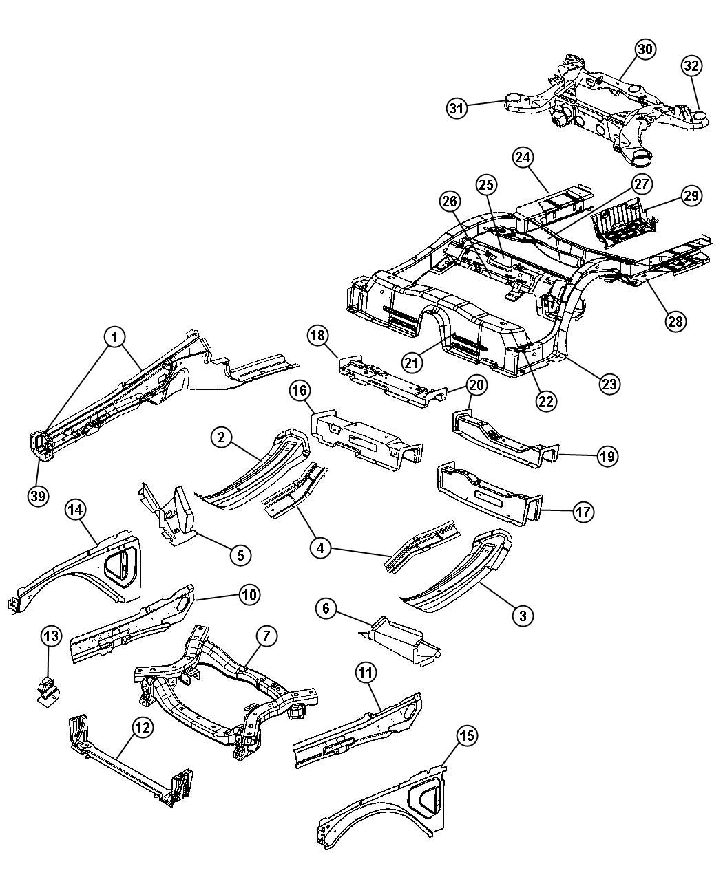 Dodge Challenger Frame Rear Axle Suspension Engines
