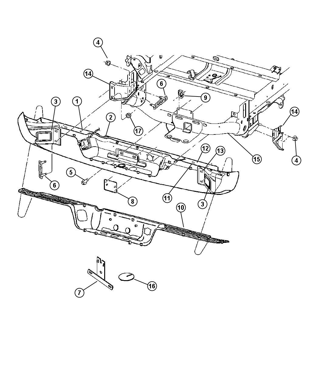 Dodge Ram Bolt And Washer Hex Head M10x1 5x30 Acp Or Amw