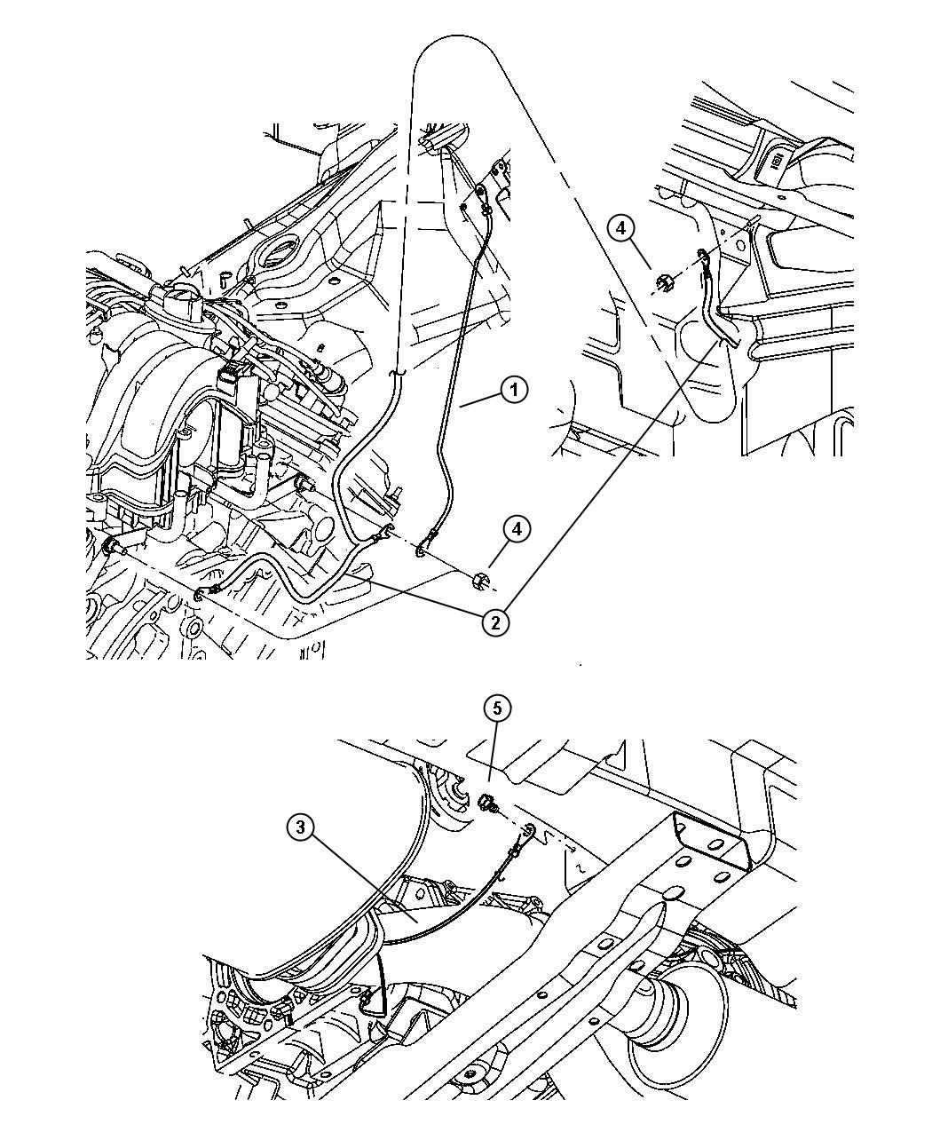 Jeep Grand Cherokee Strap Exhaust Ground System