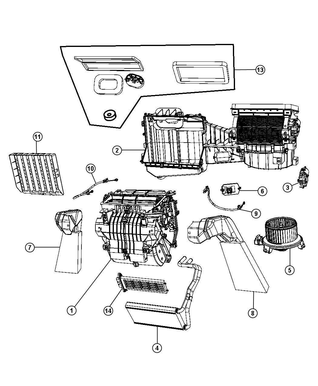 Jeep Wrangler Seal Kit Used For A C And Heater Unit