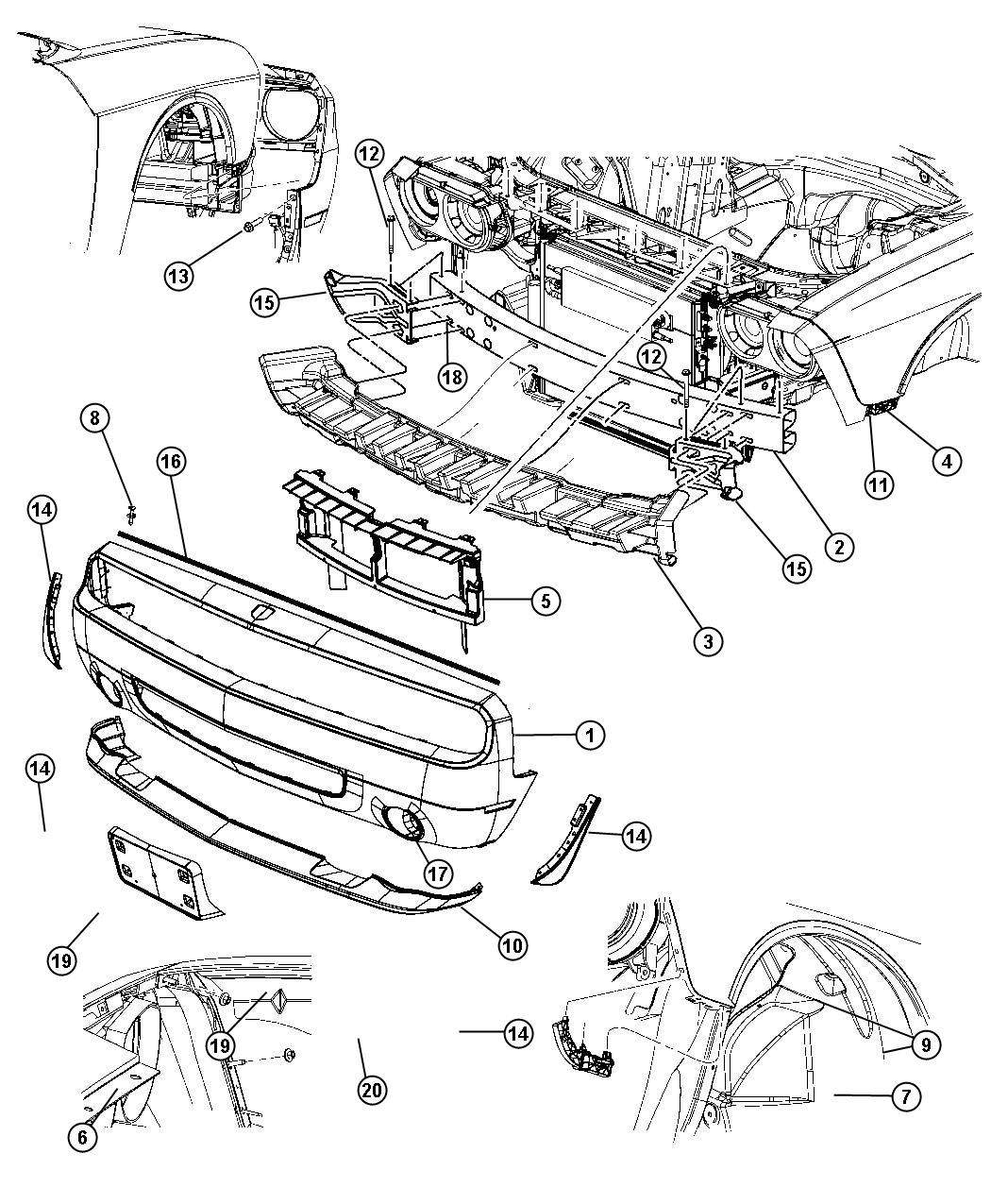 Dodge Challenger Parts Diagram