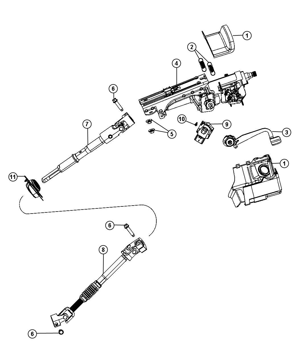 Chrysler Pt Cruiser Housing Steering Column Lock
