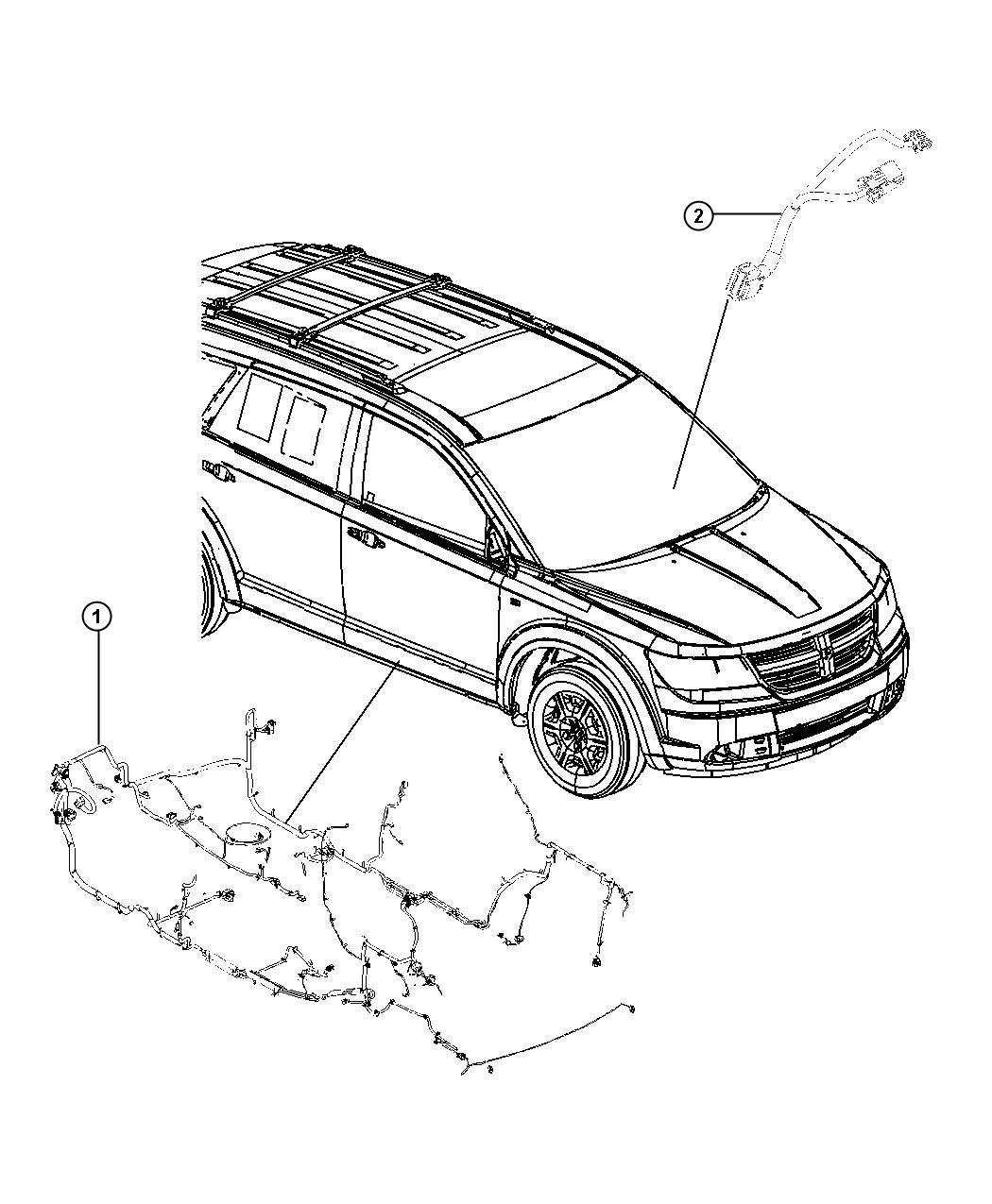 Dodge Journey Wiring Unified Body Us Canada Rear Air