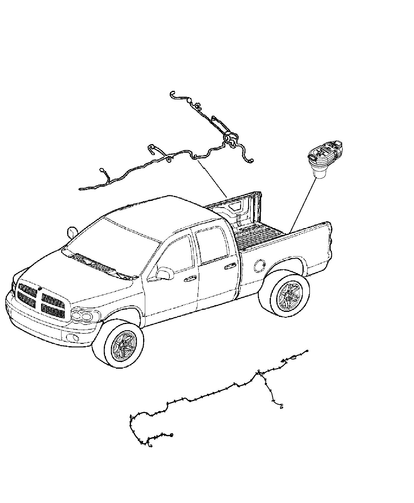 Dodge Ram Wiring Jumper Front Axle Disconnect