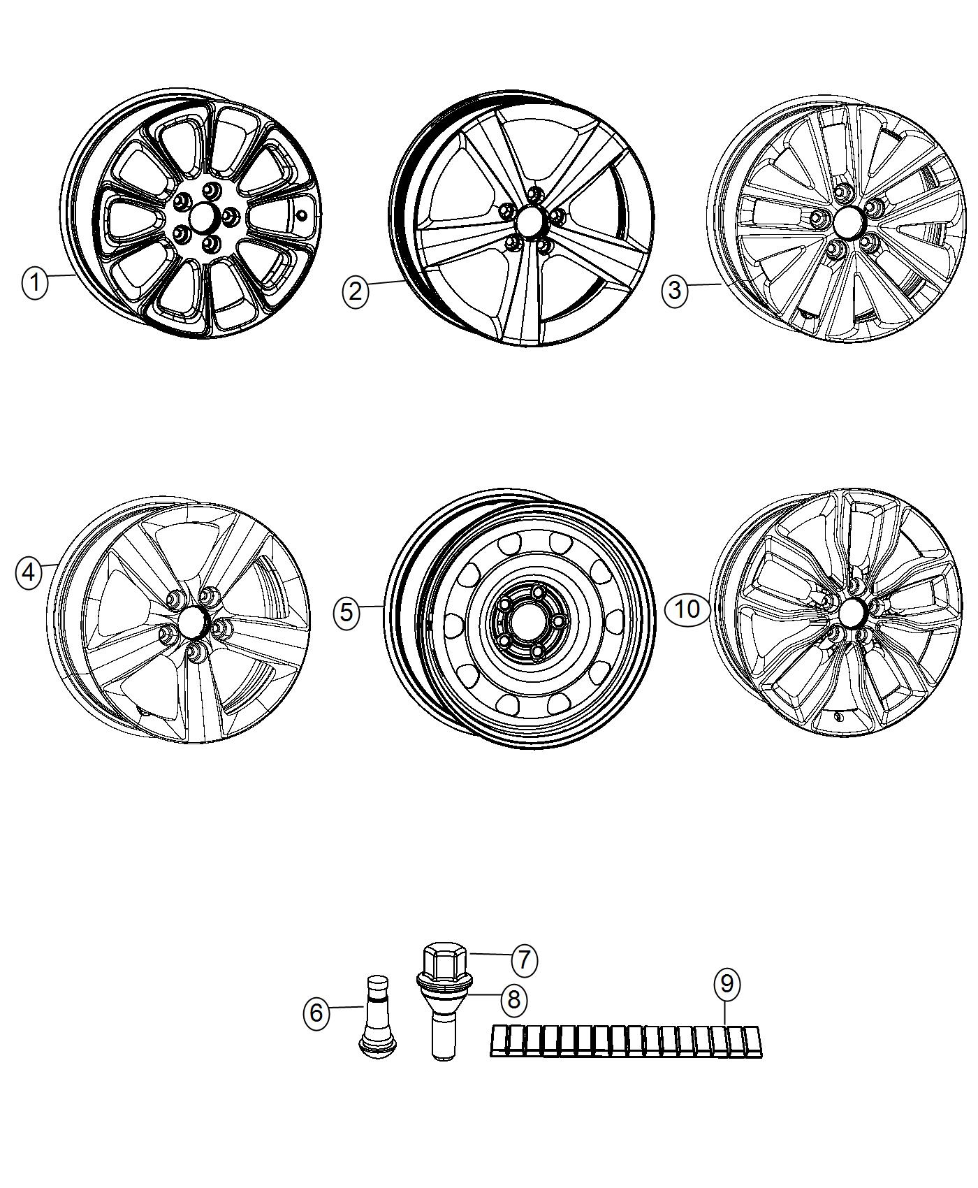 Dodge Dart Wheel Aluminum Front Or Rear Tire And Wheel