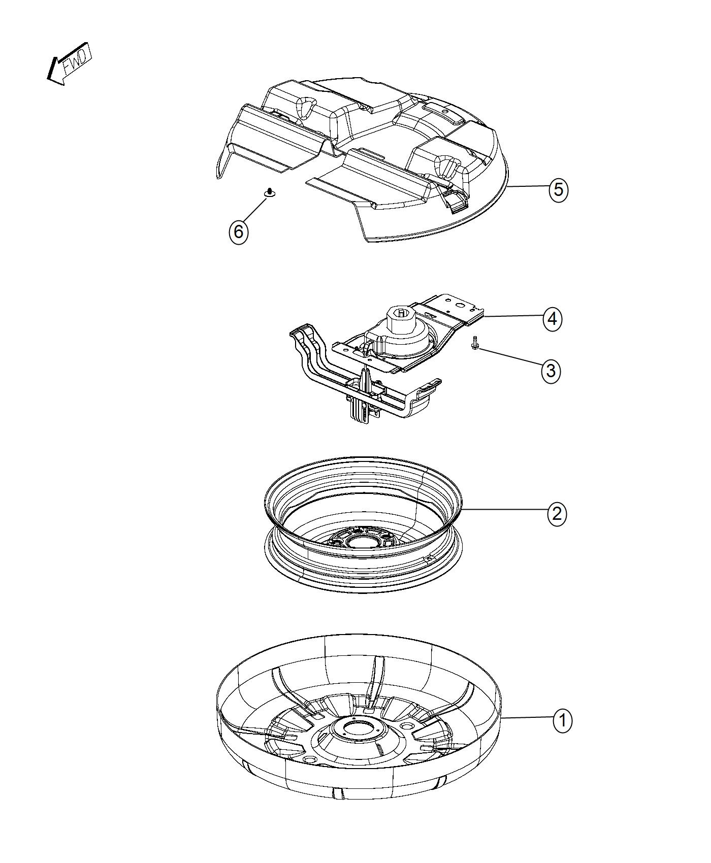 Chrysler Town Amp Country Winch Spare Tire Carrier Delete