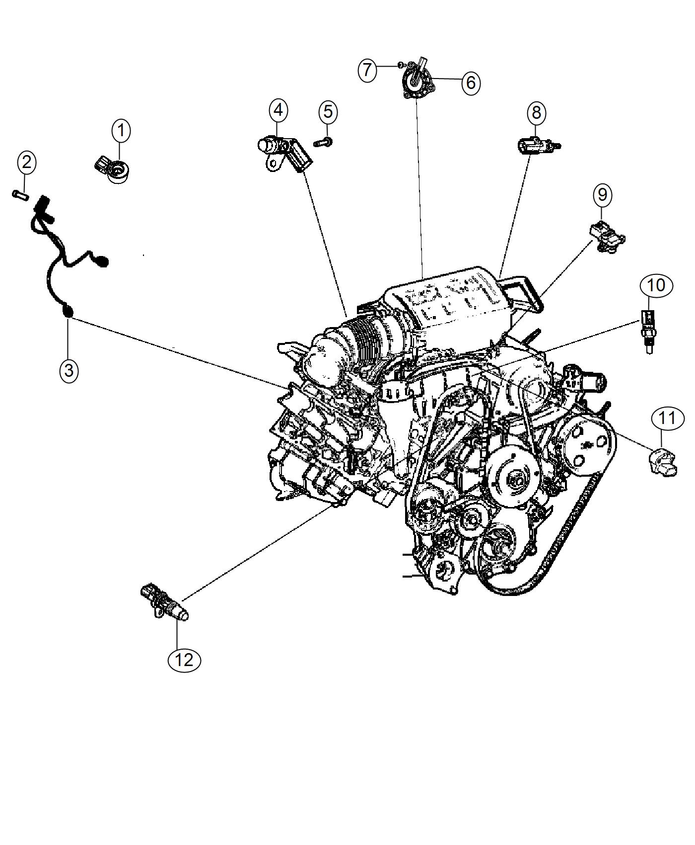 Jeep Wrangler Wiring Used For Knock Oil Pressure And