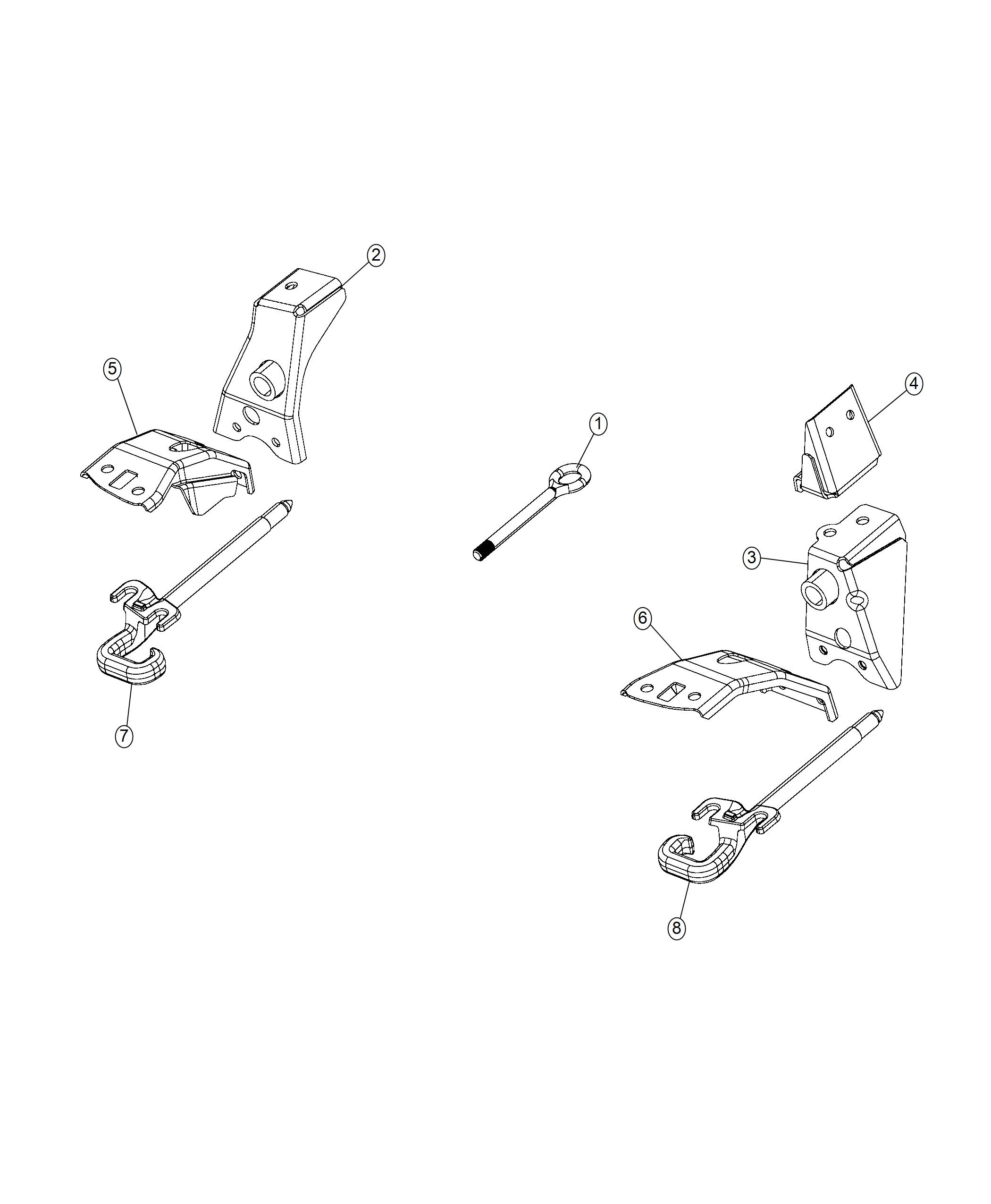 Jeep Renegade Bracket Tow Hook Right Front