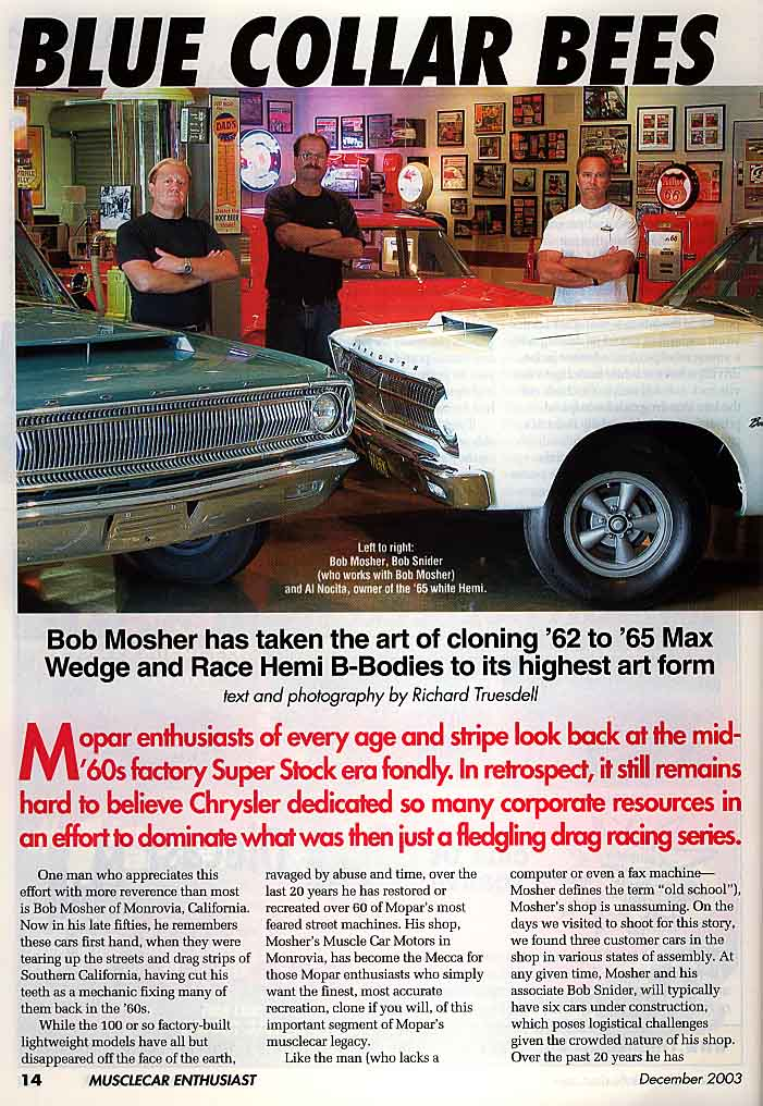 Muscle Car Magazine Articles