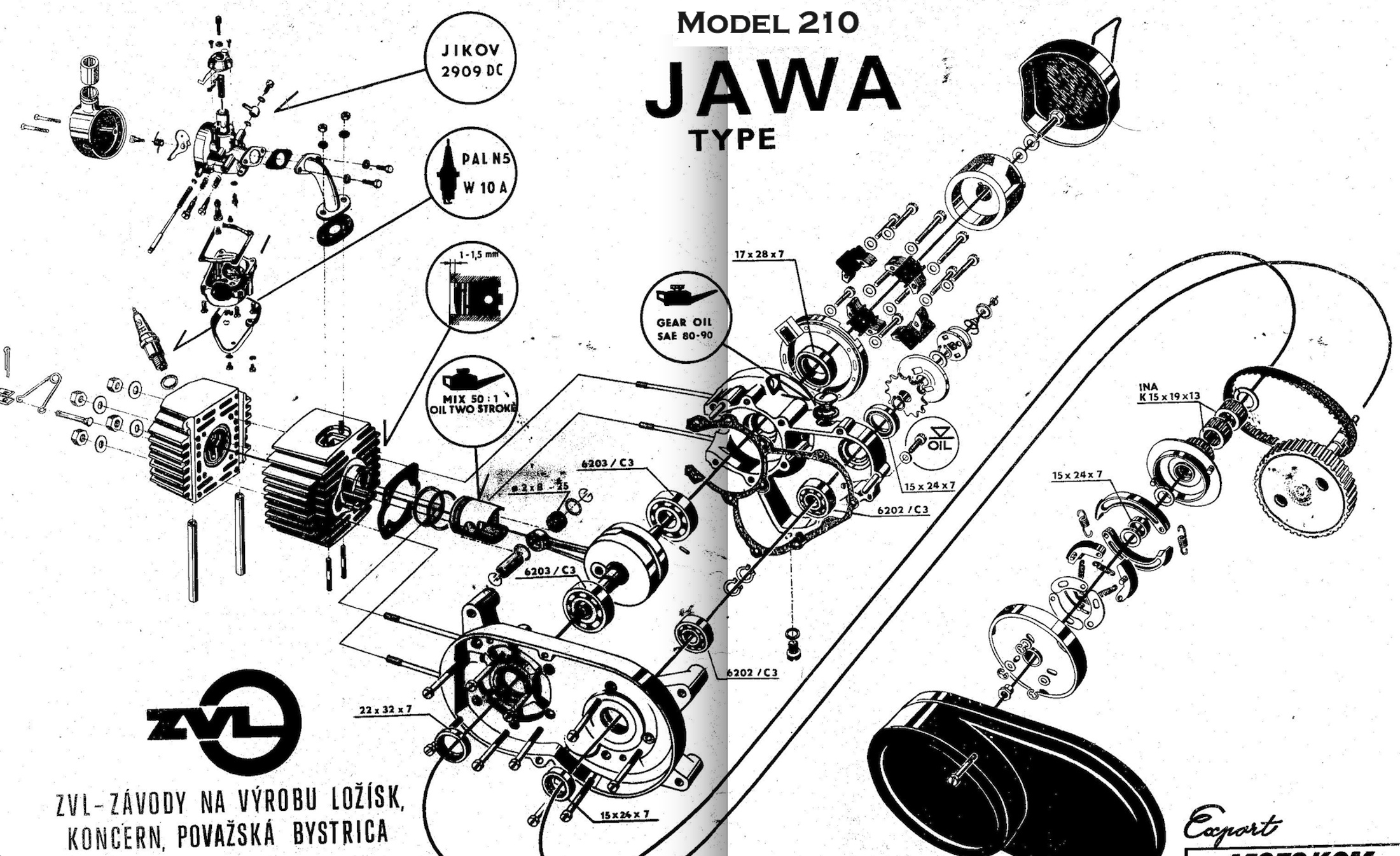 Jawa 210 Engine