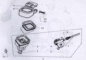 Motobecane Speedometer Parts Ref Diagram MB12c
