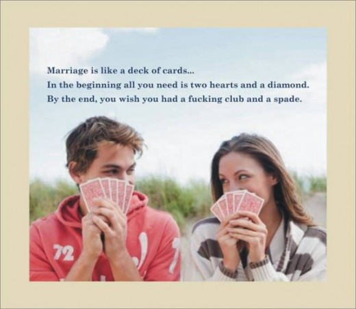 Corona Virus Zombie Hoax: Marriage Is Like A Deck Of Cards
