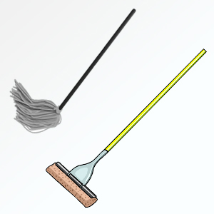 Dust mop and wet mop
