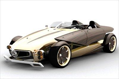 Mercedes aus Holz