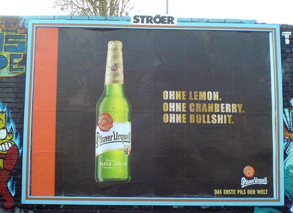 Pilsener Urquell Werbung