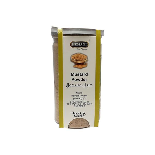 La poudre de moutarde