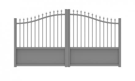portail aluminium semi ajoure