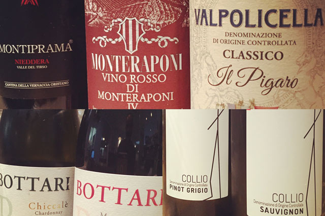Selection of Italian wines