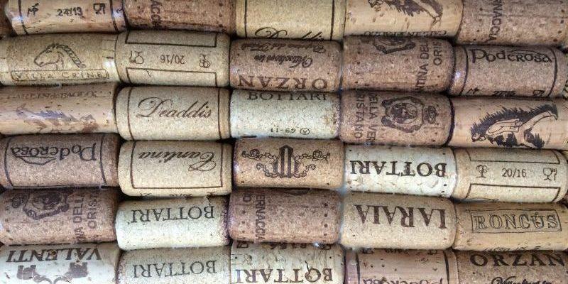 Wine corks - Wines Menu