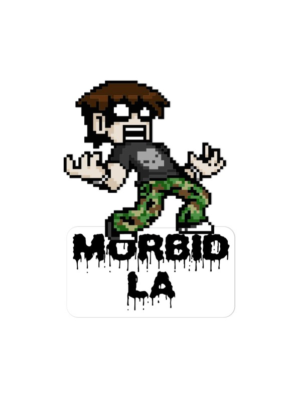 MORBID LA Clothing Streetwear Dope Rad Stickers Decals Streetart