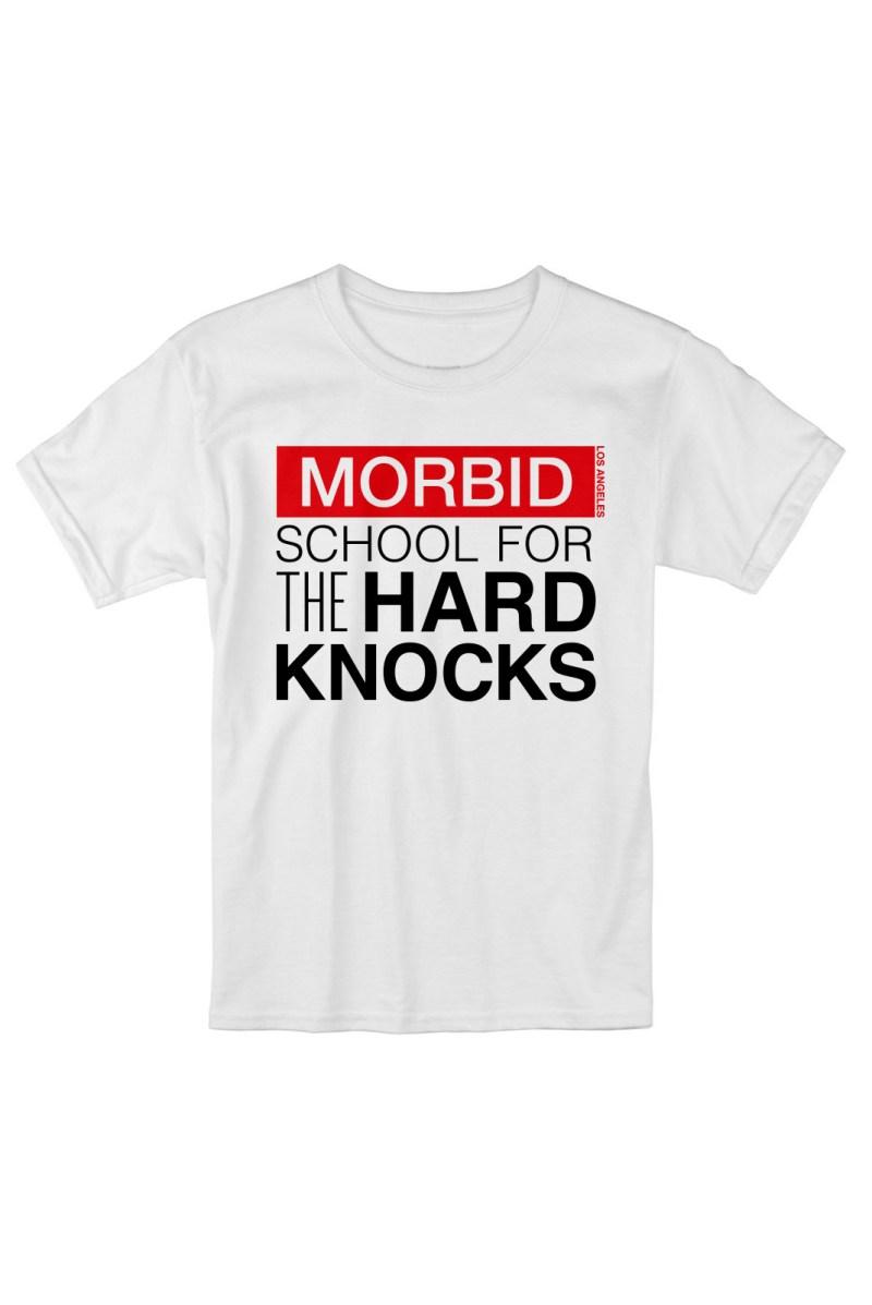 MORBID LA Clothing Streetwear Hard Knocks White tshirt