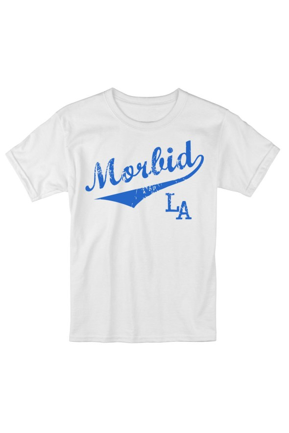 MORBID LA Streetwear Clothing Dodger Blue Sporty Fashion Style White T-Shirt