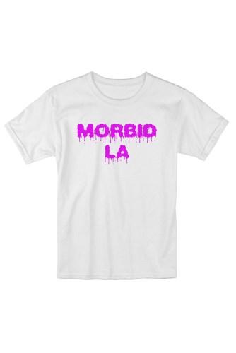 MORBID LA Streetwear Skater Style White Pink TShirt