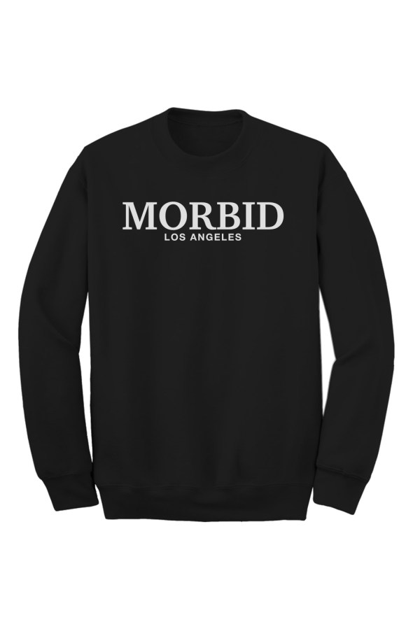 MORBID Los Angeles Clothing Black Fancy Type Crew Sweater Streetwear