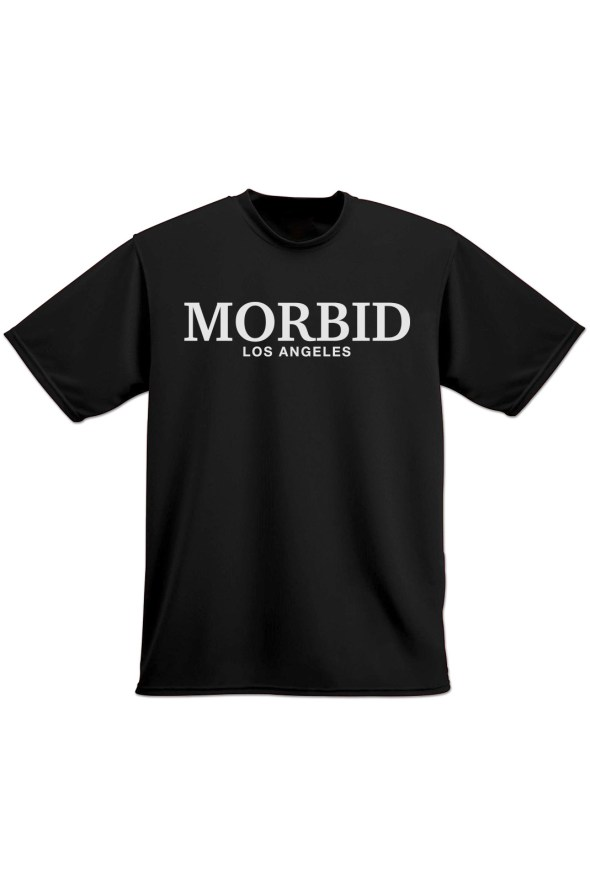 MORBID Los Angeles Clothing Streetwear Fancy Type Black t-shirt