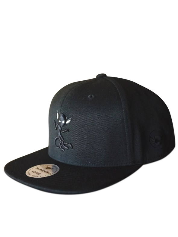 Morbid Fiber Los Angeles Clothing Streetwear Black Snapback