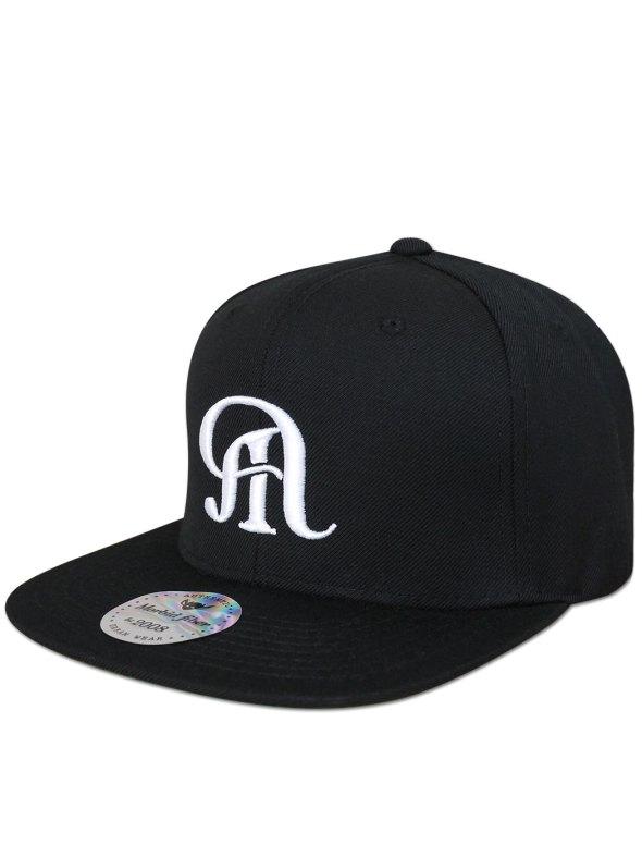 Morbid Fiber Los Angeles M Logo Black Snapback