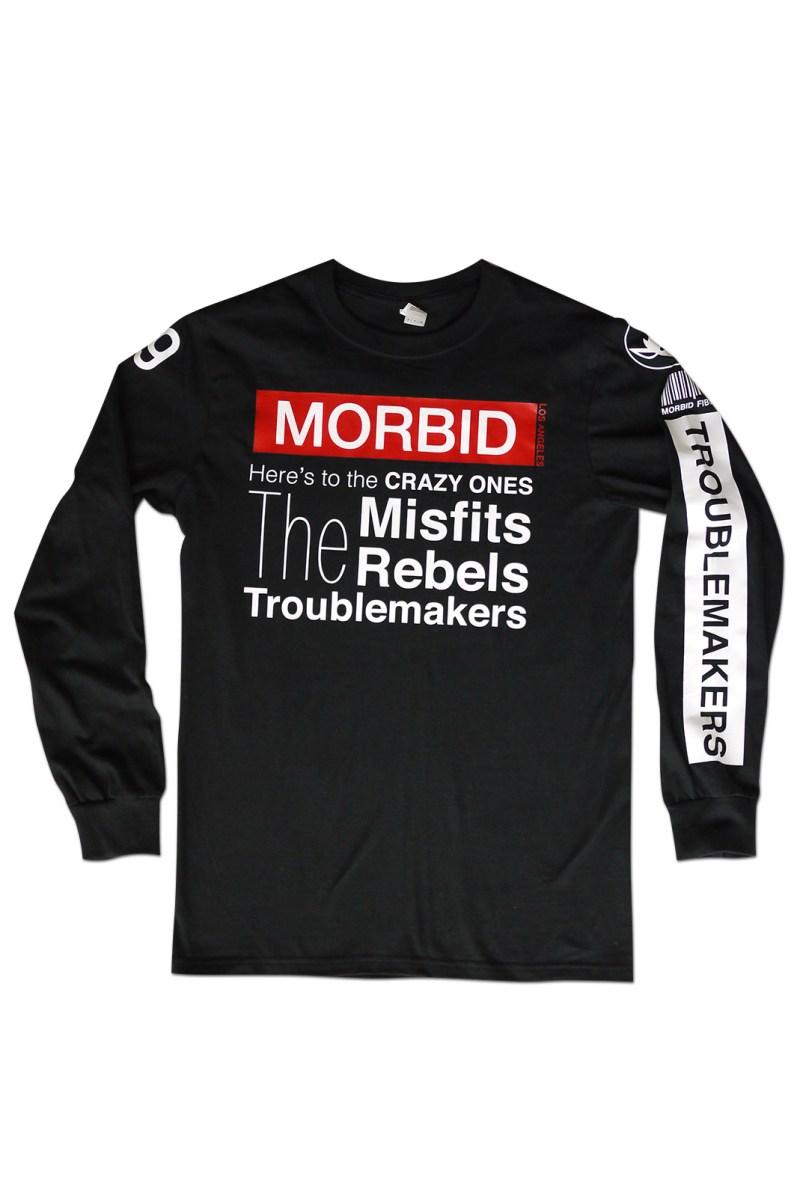 Morbid Fiber Clothing Streetwear Fashion The Crazy Ones Longsleeve
