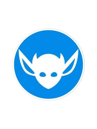 Morbid LA Clothing Streetwear Fashion Blue Art Deco IMP Sticker Decal