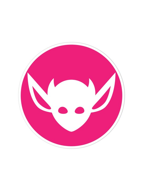 Morbid LA Clothing Streetwear Fashion Magenta Art Deco IMP Sticker Decal