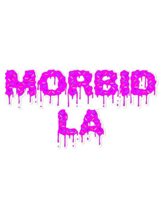 Morbid LA Streetwear Sprinkle Donuts Sticker Decal